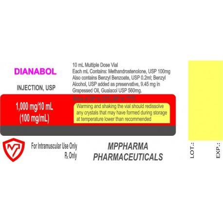Injectable Dianabol 100mg/ml  - 10ml vial